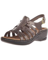 17e8fb9e9e0 Lyst - Clarks Lexi Marigold Q (pewter Leather) Women s Sandals in Brown