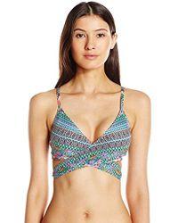 745827c5c03e4 Roxy Bohemian Sunrise Tall Tri Bikini Top - Lyst