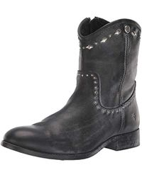 Frye - Melissa Button Multi Stud Short (dark Brown Brush-off) Women's Boots - Lyst