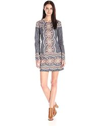 BCBGMAXAZRIA - Bcbgmax Azria Allina Lace Long-sleeve Cocktail Dress - Lyst