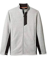 Izod - Advantage Performance Shaker Fleece Jacket - Lyst