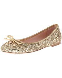 7aaff223cf1d Lyst - Kate Spade Willa Ballet Flats in Metallic