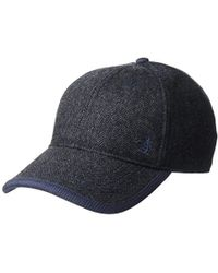 Lyst - Original Penguin Herringbone Baseball Cap in Blue for Men 32988f3970d