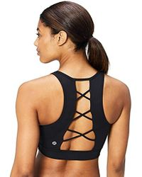 daafe9277fbff Lyst - Abercrombie   Fitch Active Lattice Sports Bra in Black