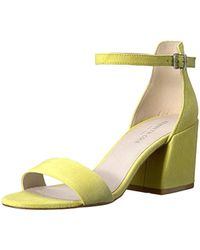 231a20cfa56d Lyst - Kenneth Cole Hannon Block Heel Ankle Strap Sandal in Natural