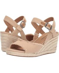 212a872513d Lyst - Lucky Brand Mindra Espadrille Wedge Sandal in Brown