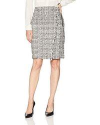5d3d140713 Calvin Klein - Graphic Tweed Pencil Skirt - Lyst