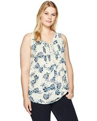 Lucky Brand - Plus Size Floral Printed Tank Top - Lyst
