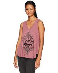 O'neill Sportswear - Lotus Bloom Screen Print Tank - Lyst