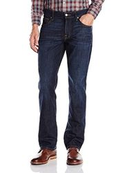 7 For All Mankind - Carsen Easy Straight-leg Jean In Blue Twilight - Lyst