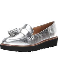 76004e84cd78 Lyst - Naturalizer August Patent Leather Tassel Detail Slip-ons in Blue