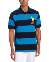 U.S. POLO ASSN. - S Stripe Pique Polo W/ Big Pony - Lyst