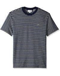 Lacoste - Short Sleeve Reg Fit Striped Jersey Tee, - Lyst