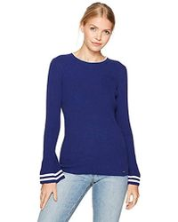 Nautica - Long Ribbed Bell Sleeve Sweater - Lyst