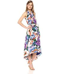 Chetta B - Tropical Print Halter Dress - Lyst