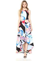 5b8ccd89f3d Nicole Miller - High-low Maxi Dress With Back Cut Out - Lyst