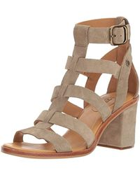 c195844ab0 UGG Maddie Horchata Leather Woven Strap Wedge Sandal - Lyst