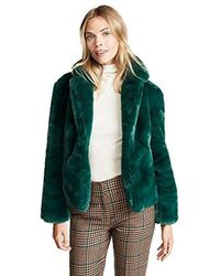 Keepsake - Stay With Me Faux Fur Short Collared Coat - Lyst