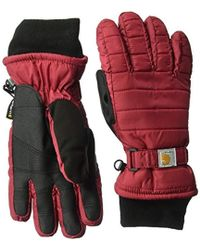 Carhartt - Quilts Insulated Breathable Glove With Waterproof Wicking Insert - Lyst