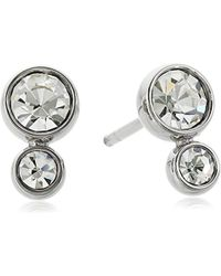 Fossil - Glitz Tone Steel Earrings - Lyst
