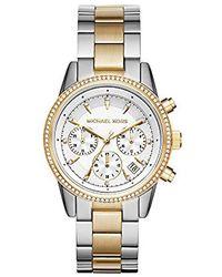 Michael Kors - Ritz Two-tone Chronograph Watch - Lyst