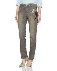 Bandolino - Millie Curvy Slim Straight 5 Pocket Jean - Lyst