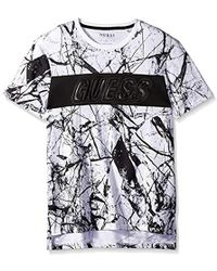 Guess - Short Sleeve Marble T-shirt - Lyst