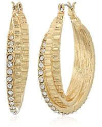 Napier - Gold-tone Layered Clickit Hoop Earrings - Lyst