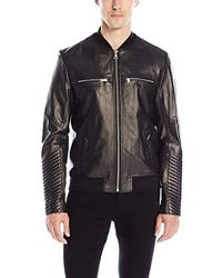 SOIA & KYO - Griffin Leather Bomber Jacket - Lyst