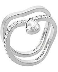 Michael Kors - S Silver-tone Ring Set, 6 - Lyst
