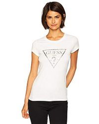 Guess - Short Sleeve Tropical Triangle T-shirt - Lyst