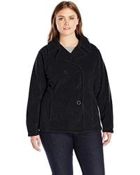 cfdcc4ad6b98 Lyst - Calvin Klein Double Breasted Belted Bouclé Pea Coat in Black
