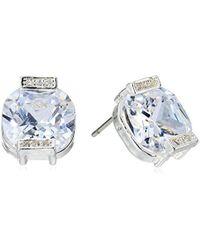 Anne Klein - Silver-tone Square Stud Earrings - Lyst