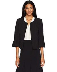 Nine West - Solid Basketweave Jacket - Lyst