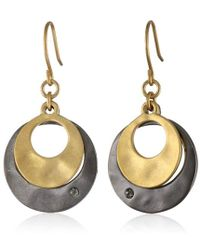 Kenneth Cole - Two-tone Layered Earrings - Lyst