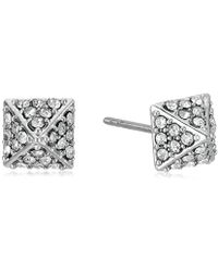 Rebecca Minkoff - Pave Pyramid Stud Earrings - Lyst