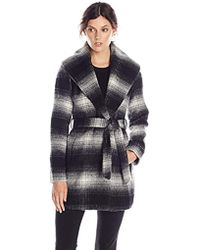 Jessica Simpson - Mohair Wool Plaid Wrap Coat - Lyst