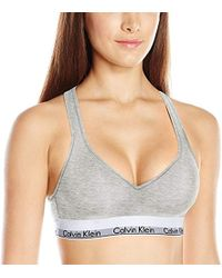 05fdcc1f2a Lyst - Calvin Klein Modern Cotton Lightly Lined Bralette in Natural
