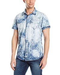 True Religion - Triple Needle Ss Western Shirt - Lyst