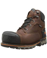 Timberland - Boondock 6 Comp Toe Wp Ins (brown) Men's Work Boots - Lyst
