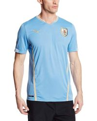 80501b4ada3 Lyst - PUMA Men s Striped Soccer Jersey in Blue for Men