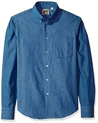 Naked & Famous - Lightweight Faded Long Sleeve Button Down Shirt - Lyst