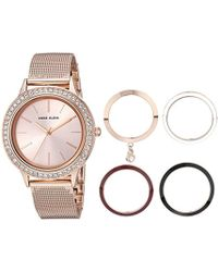 Anne Klein - Swarovski Crystal Accented Watch And Interchangeable Bezel Set - Lyst