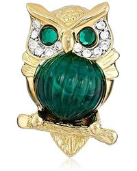 Kenneth Jay Lane - Small Owl Brooch - Lyst