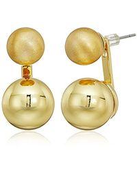 Rebecca Minkoff - Sphere Front Back Earrings - Lyst