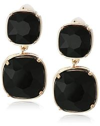 T Tahari - Clip Drop Earrings, Gold, One Size - Lyst