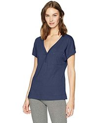 Nautica - Short Sleeve V-neck Sleep Top - Lyst