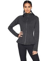 Core 10 - Motion Tech Fleece Fitted Peplum Full-zip Hoodie Jacket - Lyst