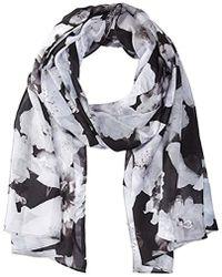 Calvin Klein - Shadow Stripe Floral Scarf - Lyst