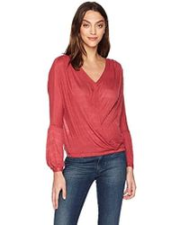 Lucky Brand - Choker Wrap Top In Earth Red - Lyst